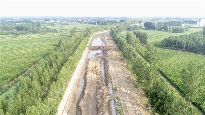 小开河灌区2019年应急清淤复堤工程启动