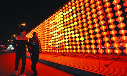 璀璨華燈扮靚濱州夜景