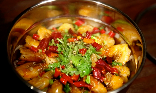 [寻找滨州味道] 虾在赵先生辣厨房遇上了地雷