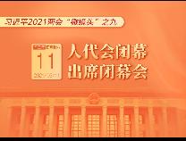 """习近平2021两会""""微镜头""""之九:人代会闭幕 出席闭幕会"""
