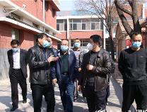 阳信县教体局督查小组到第二实验中学督查疫情防控及开学前准备工作