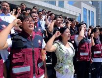 滨州网直播|不一样的医师节——滨州医师和灾区人民在一起!