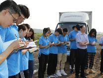 齐鲁工业大学社会实践队到博兴县店子镇参观学习