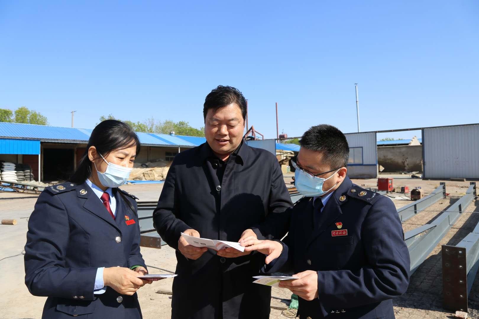 无棣县税务局组织人员走访省人大代表