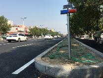 滨州市渤海五路(黄河八路至老大坝段)道路改造完工 车辆正常通行