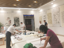 黄河三角洲书画院入驻黄河社区服务站