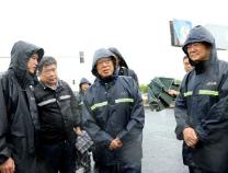 杨东奇来滨检查指导防汛防台风工作