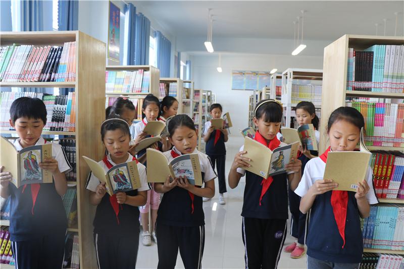 蔡王小学留守儿童获赠千册国学书籍