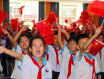 滨城区梁才中心学校用歌声向新中国成立70周年献礼