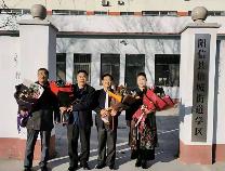 阳信信城学区举行退休教师欢送会
