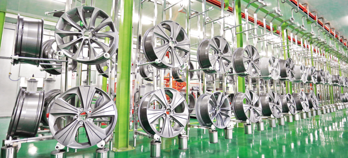山东六丰机械工业铝轮毂生产线