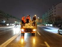 52吨融雪剂加持续8个多小时人机作业  雪后滨州城区道路恢复畅通