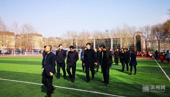博兴县校园足球考察团到淄博市临淄区考察学习