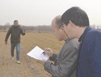 沾化黄升:用北斗测亩仪测量核实小麦直补面积