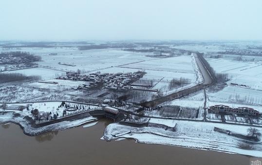 滨州小开河的2020初雪