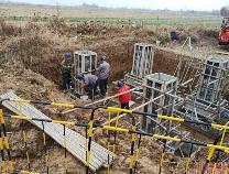 阳信县供电公司:克服低温寒风天气建设施工新线路