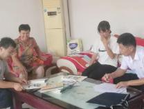 顶着烈日 惠民县清河镇中学开展全员家访