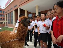 萌宠来啦!济南野生动物世界科普活动走进滨州实验学校