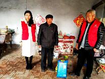 """无棣车王镇""""金辉助老""""为28位贫困老人送去温暖""""礼包"""""""
