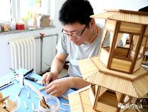 """魏桥创业集团员工王作堂:用600余根竹签搭起一座""""别墅"""""""