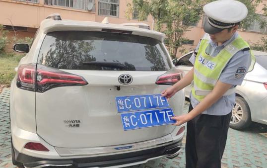 滨州开发区交警智能预警精确研判查获一起假牌违法行为