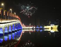 【新春走基层】流光溢彩滨州夜 华灯璀璨迎新春