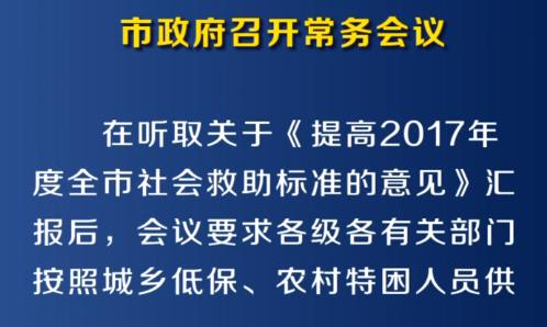 市政府召开第7次常务会议