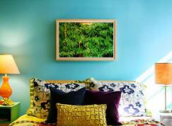 小清新多彩墙面 卧室油漆配色方案