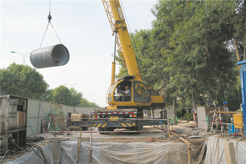 开发区码堡沟生态景观水系改造工程全面展开