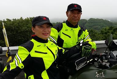 年过五旬的滨州夫妻骑着摩托穿行中国