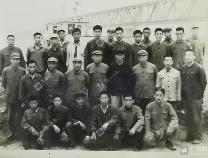 1972年北镇黄河大桥通车典礼上指挥部人员的合影