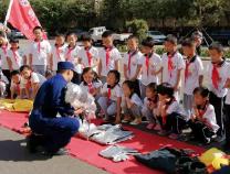滨州实验学校明慧中队参观滨州消防基地