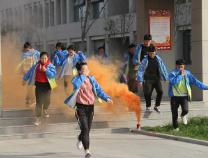 滨州市高级技工学校开展突发事件应急疏散演练
