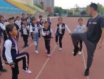"""阳信县第一实验学校开展""""军训""""特色课后服务"""