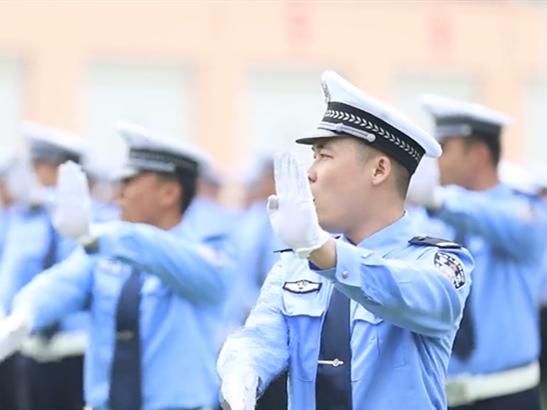这样的帅必须看!滨州交警警务实战大比武