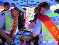 经济技术开发区交警联合里则办事处积极开展普法宣传活动